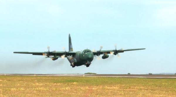 C-130 Hércules realizou oito saídas entre o sábado (01) e o domingo (02)
