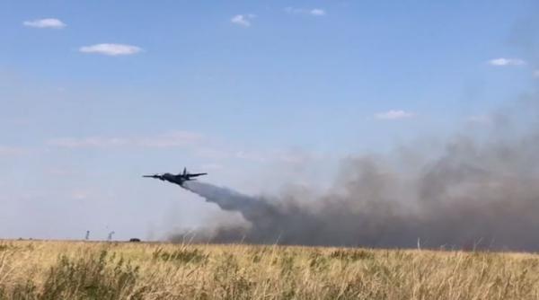 C-130 Hércules e H-60L Black Hawk realizam missões de Combate a Incêndio em Voo e Transporte Aéreo Logístico na região