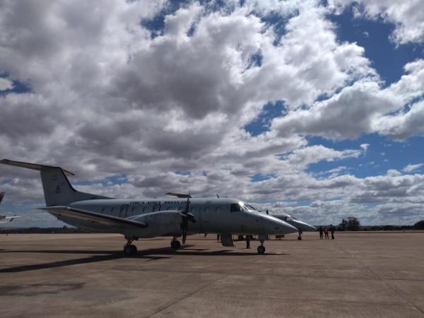 Duas aeronaves, dos Esquadrões Guará e Cobra, cumpriram as missões nesta semana