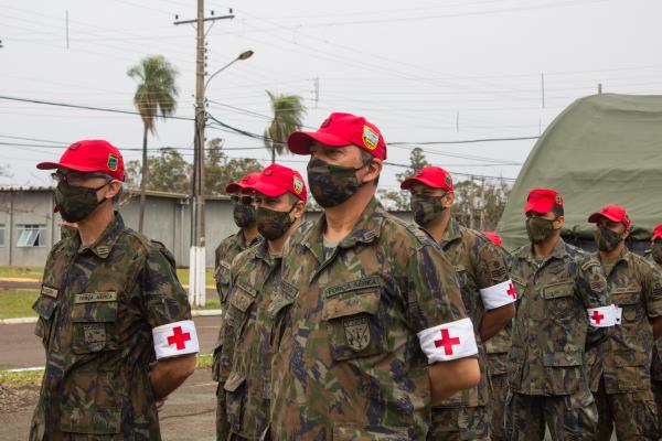 A participação no treinamento é, também, uma oportunidade de capacitação dos militares da área de saúde