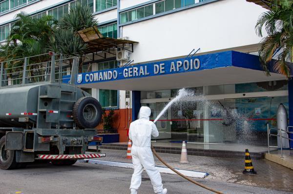 Atividade nas instalações do Comando-Geral de Apoio (COMGAP) foi realizada por militares do 8º Batalhão de Polícia do Exército