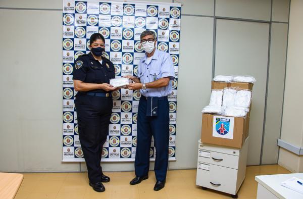 As máscaras de proteção foram confeccionadas pelo Parque de Material Aeronáutico do Galeão (PAMA-GL)
