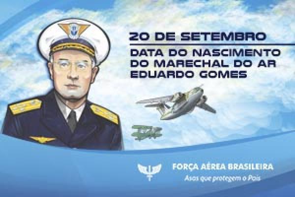 Neste mês, celebram-se os 124 anos do nascimento do Marechal do Ar Eduardo Gomes, Patrono da Força Aérea Brasileira