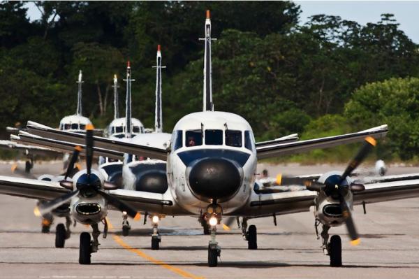 Unidade aérea atua na fiscalização de atividades ilícitas de embarcações e em acidentes ambientais