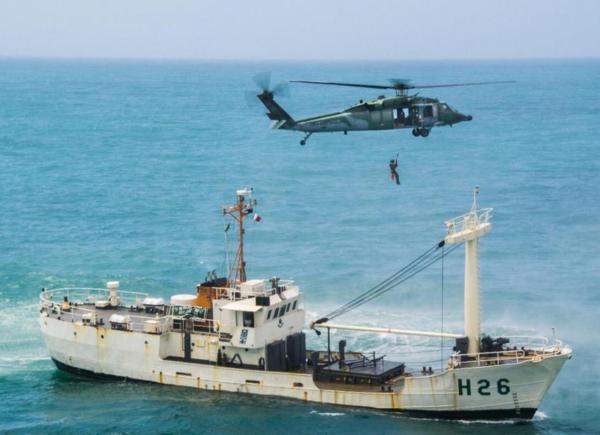 O 5º/8º Grupo de Aviação concluiu o treinamento que preparou pilotos, tripulantes e militares de resgate para missões de salvamento em  alto mar