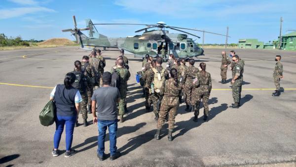 A ação contou, também, com o envolvimento de profissionais da Marinha do Brasil e do Exército Brasileiro