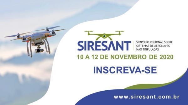O evento ocorre nos dias 10, 11 e 12 de novembro em formato virtual e reunirá especialistas para debater sobre Sistemas de Aeronaves não Tripuladas
