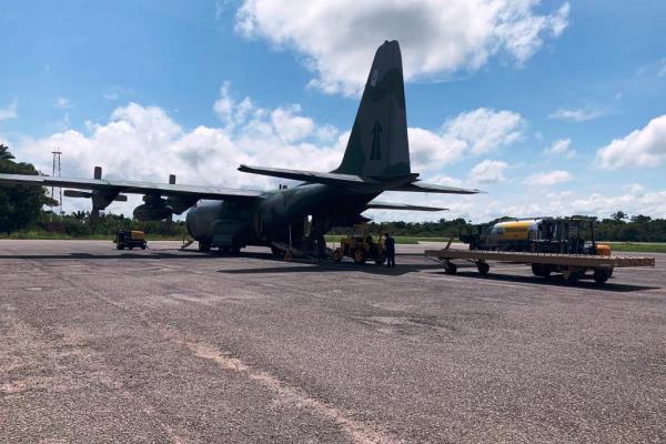 Aeronave C-130 Hércules decolou da Ala 8, em Manaus (MN), na tarde deste sábado (07)