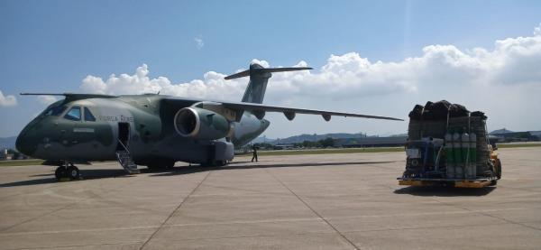 Aeronave decolou da Base Aerea do Galeão, no Rio de Janeiro (RJ), com destino a Ala 8, em Manaus (AM),  em apoio à Operação COVID-19