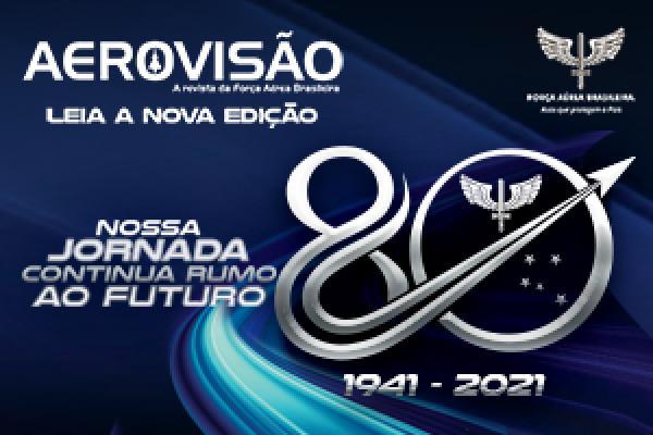 A publicação traz uma série de reportagens sobre as oito décadas da história da Força Aérea Brasileira (FAB) servindo ao Brasil.