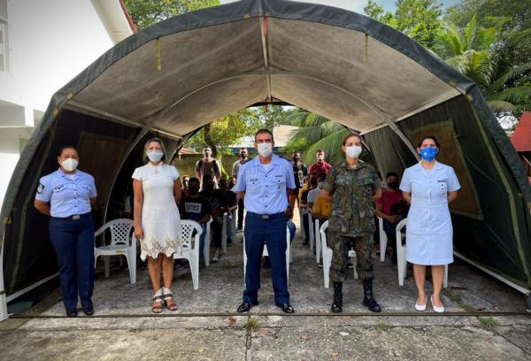 Guarnição de Aeronáutica de Belém (GUARNAE-BE) realizou parceria com a Fundação Centro de Hematologia e Hemoterapia do Pará (HEMOPA)
