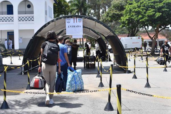 Ao todo, 744 alunos retornaram à Escola, cumprindo todas as medidas de combate à COVID-19