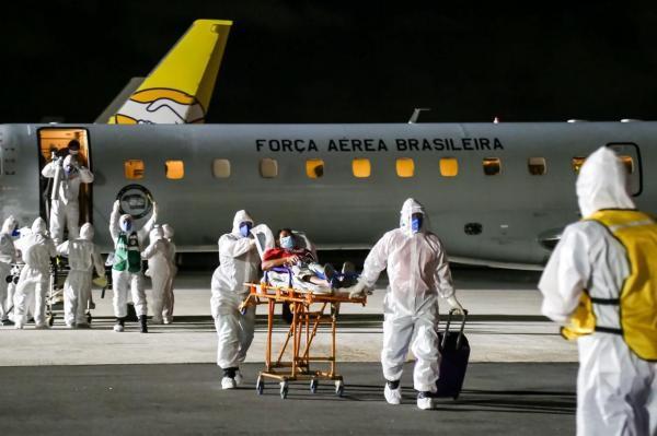 Desde o dia 15 de janeiro, aviões da Força AéreaBrasileira já realizaram transporte de pacientes para Teresina, São Luís, João Pessoa, Natal, Goiânia, Brasília, Belém, Vitória, Maceió, Recife e Uberaba