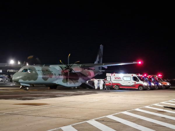 As aeronaves decolam do Amazonas (AM), de Rondônia (RO) e de Roraima (RR); os pacientes já foram removidos para 19 destinos diferentes