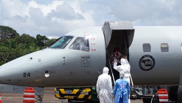 Transporte aconteceu em apoio à Operação COVID-19, nesta sexta-feira (5)