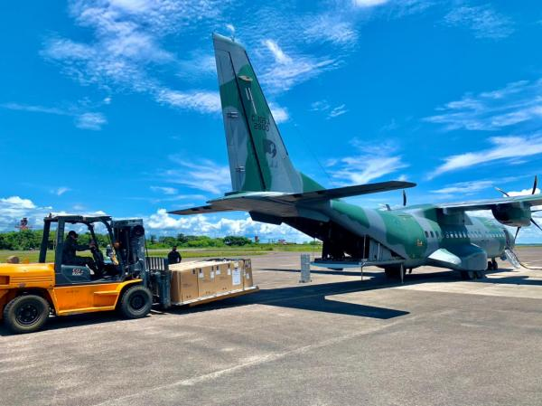 Aeronave C-105 Amazonas levou os equipamentos de Manaus (AM) para Natal (RN)