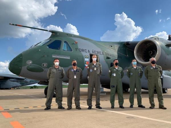 Os aviões realizaram testes de reabastecimento em voo (REVO), em Gavião Peixoto (SP), no dia 26 de março