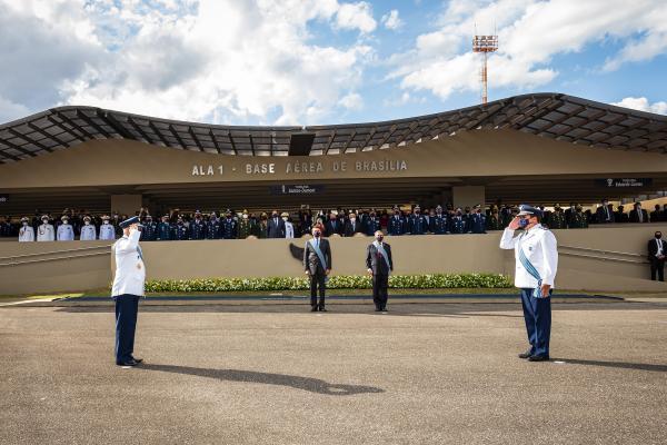 Tenente-Brigadeiro Baptista Junior assume a Força Aérea Brasileira, em cerimônia realizada nessa segunda-feira (12), em Brasília (DF)