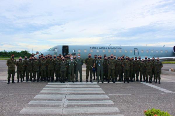 Militares foram recebidos pelos Comandantes e fizeram a visita às Organizações Militares da Guarnição de Aeronáutica de Manaus