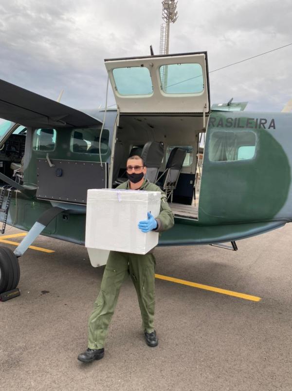 Um C-98 Caravan realizou a captação do órgão em Criciúma (SC) e transportou para Porto Alegre (RS)