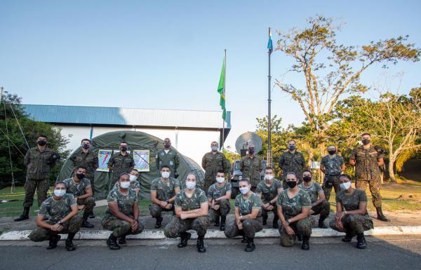 O estágio ocorreu junto ao Primeiro Esquadrão do Primeiro Grupo de Comunicações e Controle (1º/1º GCC)
