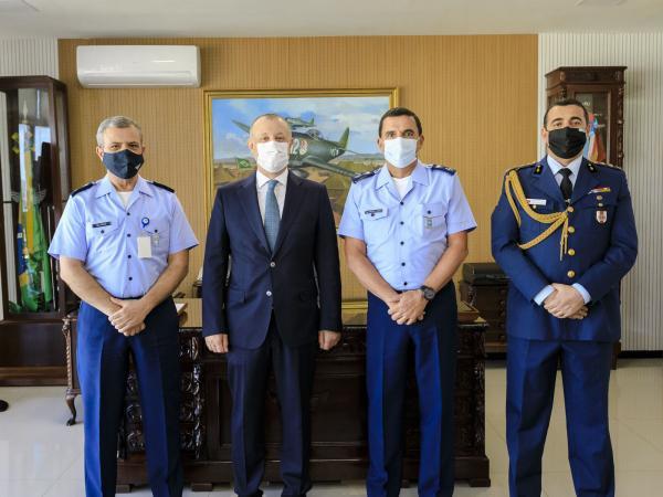 O encontro ocorreu no Comando da Aeronáutica, em Brasília (DF), e também contou com a presença do Adido Militar da Turquia no Brasil