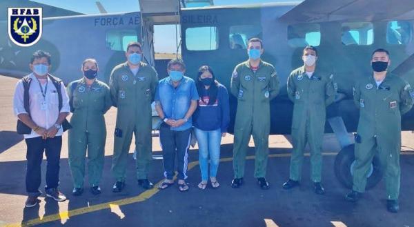 O militar da reserva, de origem indígena, passou três semanas internado em Brasília (DF) e retornou para casa em Canarana (MT), nessa quarta-feira (30)