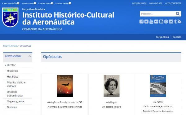 Iniciativa é do Instituto Histórico-Cultural da Aeronáutica (INCAER)