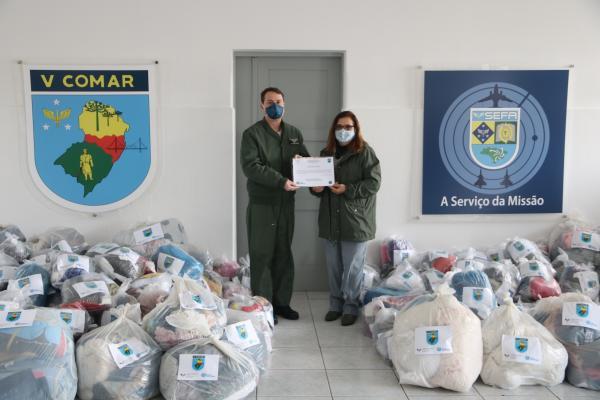 Material arrecadado foi doado a entidades responsáveis por pessoas em situação de vulnerabilidade nos dias 7 e 9 de julho