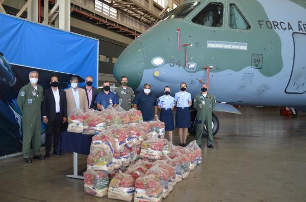 As campanhas engajaram os militares das diferentes aviações na promoção de ações solidárias à comunidade da cidade de Anápolis (GO)