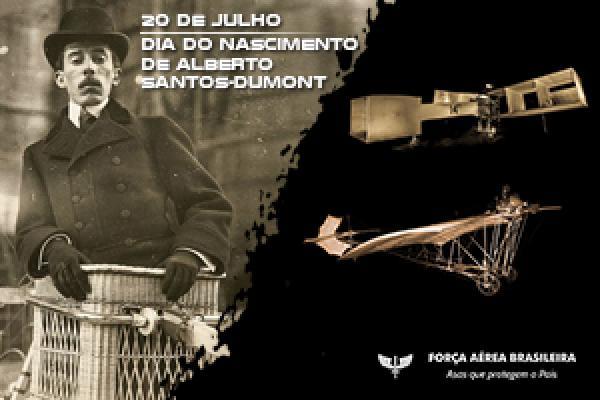 Vídeo celebra o nascimento do Pai da Aviação e Patrono da Aeronáutica Brasileira, lembrado em 20 de julho