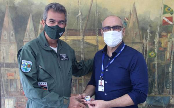 Visita ao Comando Aéreo Norte, em Belém (PA), ocorreu nessa quarta-feira (28)