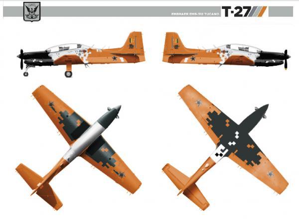 A AFA promoveu um concurso interno entre os cadetes para a escolha da pintura que marcará a nova versão do T-27 modernizado