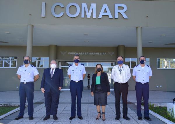 Encontro faz parte do compromisso do dirigente do I COMAR em fortalecer as relações institucionais com autoridades dos poderes Executivo, Legislativo e Judiciário