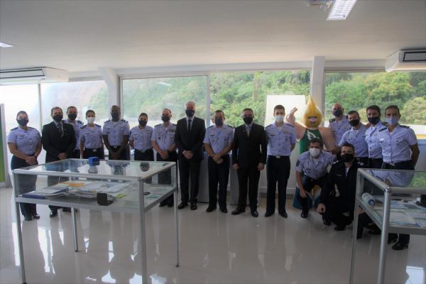 Componentes da delegação do Time Militar Brasil de 2011 participaram da cerimônia de congraçamento pelos dez anos do maior evento esportivo militar internacional realizado no País