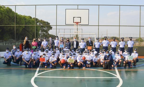 O Projeto da Quadra Poliesportiva foi idealizado pela Assistência Social da GUARNAE-AN e concretizado por meio de emenda parlamentar