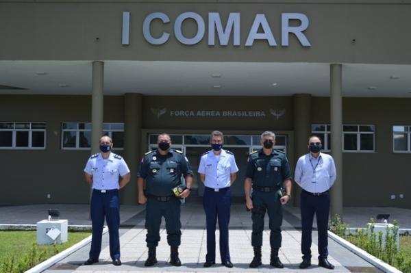 Os encontros ocorreram com o objetivo de apresentar a nova estrutura do Comando Aéreo Norte e fortalecer o relacionamento entre as Instituições