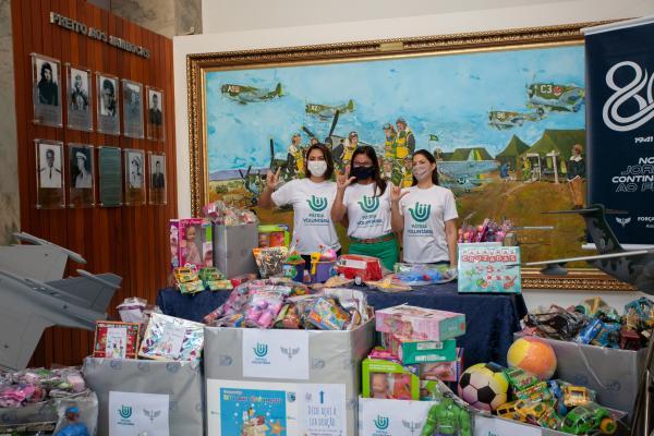 Foram mais de 600 itens doados por militares de todas as Organizações Militares da FAB em Brasília (DF)