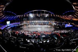 Engenhão foi palco da festa de encerramento dos Jogos Militares 2011